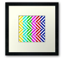 Stripes multi color pattern (tv no signal) Framed Print