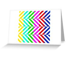 Stripes multi color pattern (tv no signal) Greeting Card
