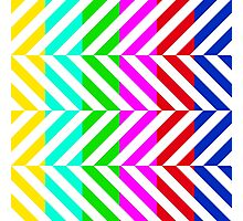 Stripes multi color pattern (tv no signal) Photographic Print