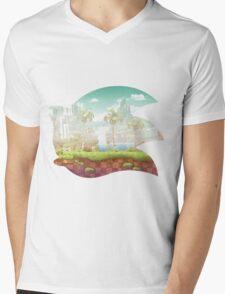 Sonic The Hedgehog 25th Anniversary Logo Mens V-Neck T-Shirt