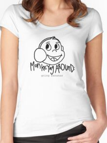 Monkeying Around: Going bananas Women's Fitted Scoop T-Shirt