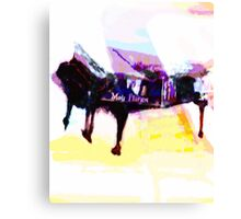 Moir Piano being painted Canvas Print