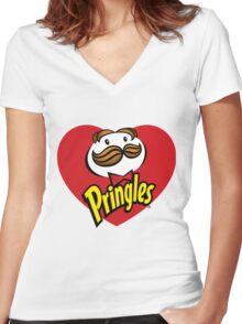 Pringles - Love Women's Fitted V-Neck T-Shirt