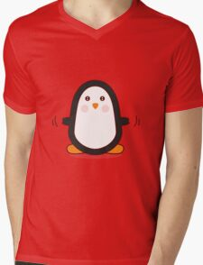 Penguin! Mens V-Neck T-Shirt