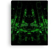 green ruin abstract mirroring something Canvas Print