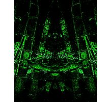 green ruin abstract mirroring something Photographic Print