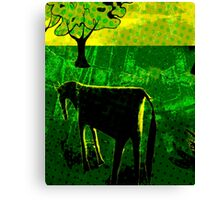 Just another green horse Canvas Print