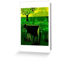 Just another green horse Greeting Card