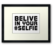 Facebook Funny Popular Selfie Internet Joke T-Shirt  Framed Print