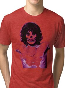 THE MISFITS JIM MORRISON Mash Up (Original/ White) Tri-blend T-Shirt