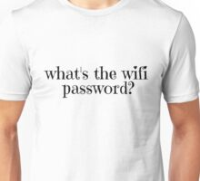 Wifi Internet Facebook Twitter Password Cool T-Shirts Unisex T-Shirt