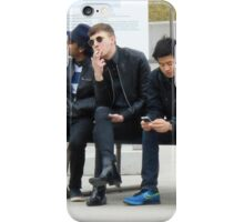 Young Men on a Bench iPhone Case/Skin