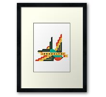 FLAT DESIGN SWALLOW - BROOKLYN Framed Print