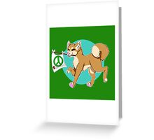 Gunther the Positivity Dog Greeting Card