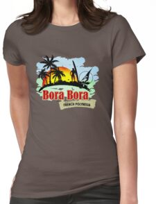 Bora Bora Summer Time Womens Fitted T-Shirt