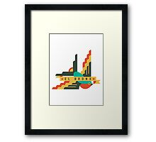 Flat design swallow - BRONX Framed Print