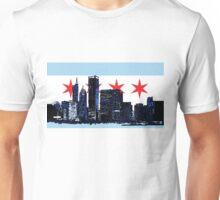 Chicago Skyline Flag Unisex T-Shirt