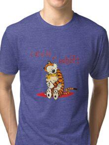 Calvin and Hobbes Big Hugs Tri-blend T-Shirt