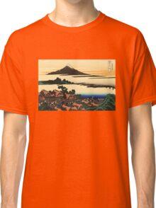 'Dawn at Isawa in the Kai Province' by Katsushika Hokusai (Reproduction) Classic T-Shirt