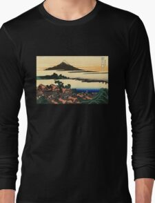 'Dawn at Isawa in the Kai Province' by Katsushika Hokusai (Reproduction) Long Sleeve T-Shirt