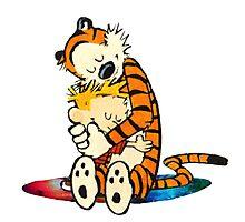 Calvin and Hobbes Big Hugs Nebula Galaxy Photographic Print