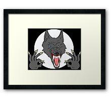 OK Hand Werewolf Framed Print
