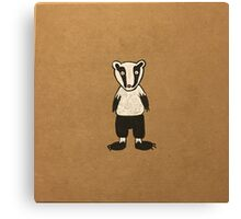 Mr Badger  Canvas Print