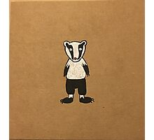 Mr Badger  Photographic Print