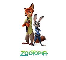nick wilde and judy hopps from zootopia Photographic Print