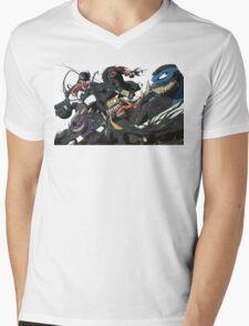 TMNT Symbiotes WHITE Mens V-Neck T-Shirt