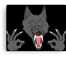 OK Hand Werewolf Canvas Print