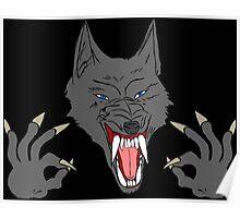 OK Hand Werewolf Poster