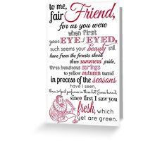Sonnet 2 Greeting Card