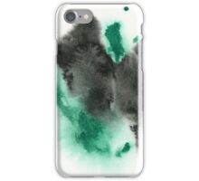 Black and Green Abstract - Watercolor Painting iPhone Case/Skin