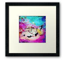 Never Grow Up Peter Pan Nebula Framed Print