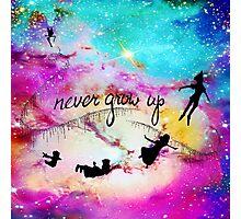 Never Grow Up Peter Pan Nebula Photographic Print