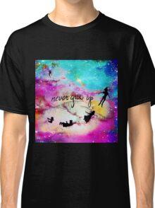 Never Grow Up Peter Pan Nebula Classic T-Shirt