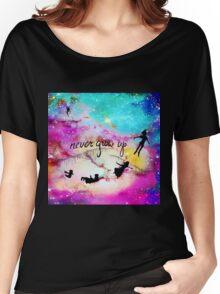 Never Grow Up Peter Pan Nebula Women's Relaxed Fit T-Shirt
