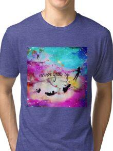 Never Grow Up Peter Pan Nebula Tri-blend T-Shirt