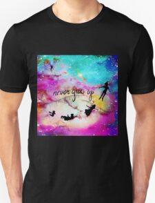 Never Grow Up Peter Pan Nebula Unisex T-Shirt