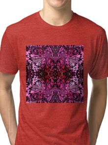 pink butterfly wing abstract Tri-blend T-Shirt