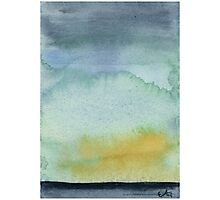 Abstract Landscape - Watercolor Painting Photographic Print