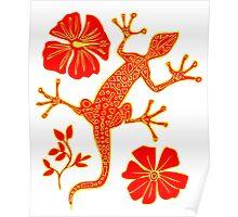 Tribal Lizard Pattern #1 Poster