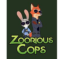 Zoorious Cops (Serious Cops) Photographic Print