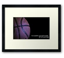 Failure motivation Jordan quote Framed Print