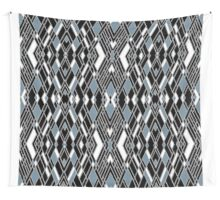 Art Deco Zoom Blue Wall Tapestry