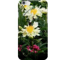 Green Lotus Peony iPhone Case/Skin