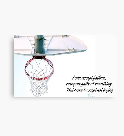 Basket motivational Jordan design Canvas Print