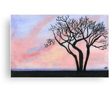 Sunset - Watercolor Painting Canvas Print
