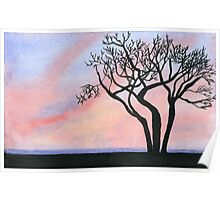 Sunset - Watercolor Painting Poster